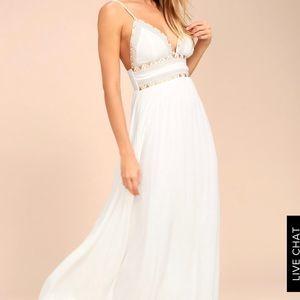 Lulu's goddess maxi dress NWT